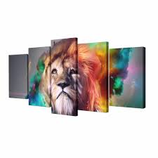 aliexpress com buy wall art painting colorful lion animal canvas