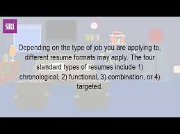 what are the different types of resumes youtube