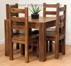 Rustic Dining Table And Chairs 58 Rustic Kitchen Table And Chair Sets Meet With Possibly The