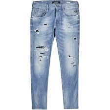 Mens Destroyed Skinny Jeans Best 25 Mens Skinny Ripped Jeans Ideas On Pinterest Light Wash