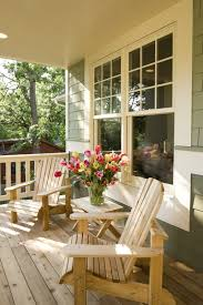 Covered Porch Design Wooden Chairs For Front Porch