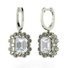 moissanite earrings emerald moissanite earrings emerald cut moissanite earrings