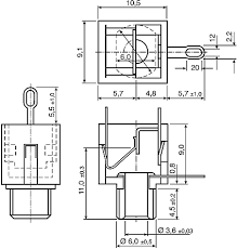 1502 03 lumberg 3 5 mm through hole right angle mono jack socket