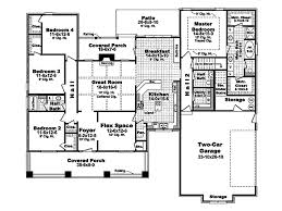 2 Story Great Room Floor Plans story traditional style house plan with open living space 4 2