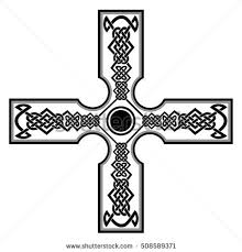 ornate celtic cross vector stock vector 145053979 shutterstock