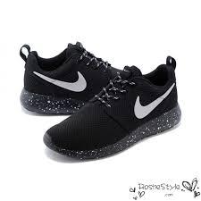 rosch runs nike roshe run mesh ink spot speckled black shoes mens womens