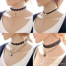 black charm choker necklace images 2018 necklaces 2016 multi layer tattoo choker necklace charm long jpg