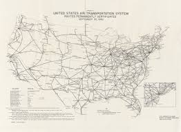 United Route Map Maps From The Annual Report Of The Civil Aeronautics Board Perry