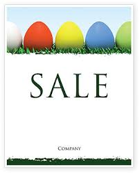 easter eggs sale poster template in microsoft word publisher and