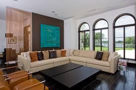 square orange goose feather cushion pure covered leather sofa