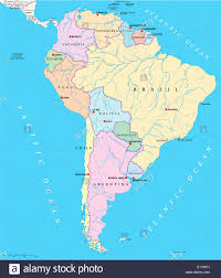 Blank Map Of South America A Map Of Central And South America With The Countrys From South