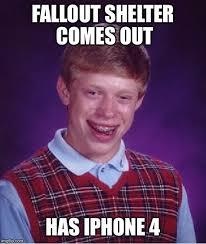 Iphone 4 Meme - bad luck brian meme imgflip