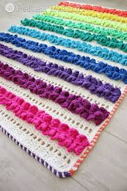 ruffled ribbon felted button colorful crochet patterns ruffled ribbons blanket