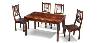 4 chair dining table set jali sheesham 140 cm thakat dining table and 4 chairs quercus living