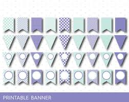purple party banner mint green party banner printable blank