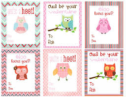 kids valentines day cards free printable owl themed valentines deal wise coupons