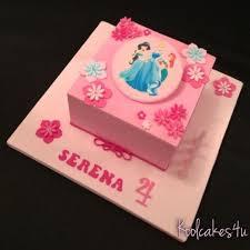 very pink princess square birthday cake cake by jen c cakesdecor