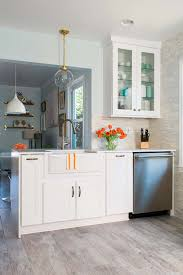 dream kitchen remodel from planning to completion kitchen remodel featuring apron front sink new dishwasher and wood look tile flooring