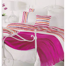 stunning white pink orange purple ruffled super king size duvet