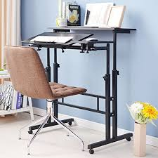 Sit Stand Office Desk Dland Sit Stand Desk Cart Mobile Height Adjustable Sit To Stand