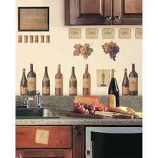 Wine Kitchen Cabinet Witching Kitchen Theme Ideas Features Wine Kitchen Theme And Brown