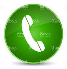 phone icon phone icon elegant green round button stock vector art 696006458