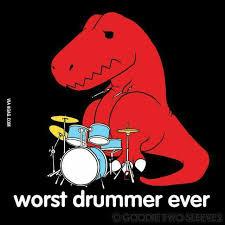 Meme T Rex - poor t rex lol p trex fun meme drums drummer music funny