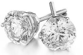 diamond studs 2 50ct certified gold solitaire earrings