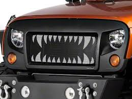 Rugged Ridge Grille Inserts Jeep Jk Rugged Ridge Wrangler Spartan Grille Satin Black 12034 01 07 17