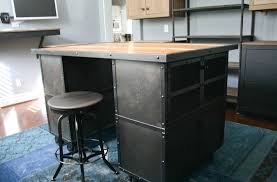 combine 9 industrial furniture industrial kitchen island this piece is a modern industrial kitchen island but it would also work perfectly as any type of modern work station it can be custom made in just about