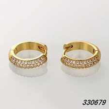 small gold earrings small gold plated hoop earring cubic zirconia womens gold earrings