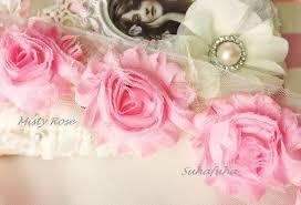 1 yd misty rose pik shabby chiffon frayed rose by suhafuha on zibbet