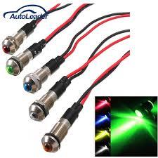 24vdc led indicator light new 8mm led indicator light l bulb pilot dash directional car