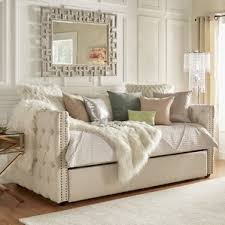 Modern Daybed With Trundle Full Size Day Bed With Trundle Wayfair