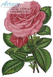 pink roses print cross stitch pattern roses