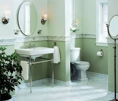 I Love The Two Tone Paint Separated By The Marble Chair Rail Trim