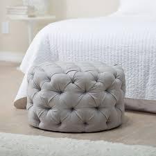 Grey Tufted Ottoman Tufted Ottoman Grey Modern Footstool Side Table