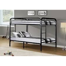 full over full metal bunk bed in black