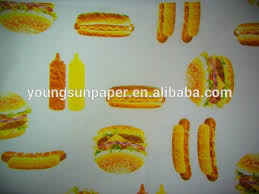 hamburger wrapping paper 19gsm wrapping tissue paper yuanwenjun
