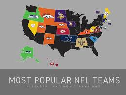 popular the most popular nfl teams in states that don u0027t have one