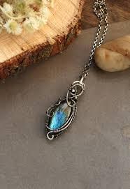 silver pendant necklace handmade images Sterling silver necklace multicolor labradorite pendant silver jpg