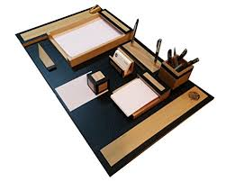 office desk organizer set slk wood products wood and leather office desk organizer set pen