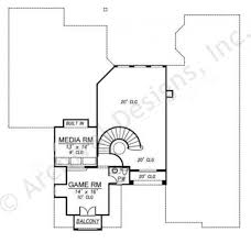 2nd Floor House Plan by Villa Trissano Texas Floor Plans Mediterranean House Plan
