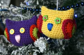 cuteness alert christmas owl tree decoration luz patterns