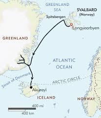 Greenland Map Three Arctic Islands Itinerary U0026 Map Wilderness Travel