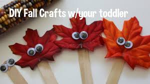 diy fall crafts toddler friendly youtube