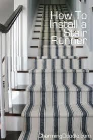 Stairway Rug Runners How To Install A Stair Runner Learning Illustrations And Woven