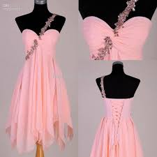 real sample peach color a line one shoulder beaded chiffon prom
