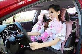 shopping cute cartoon kitty car seat belt shoulder padding