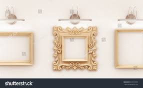 Old Fashioned Picture Frames Gallery Exhibition Oldfashioned Empty Picture Frame Stock